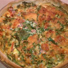 Spinach, Mushroom and Feta Quiche