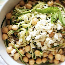 Chickpea, Barley, & Zucchini Salad with Feta