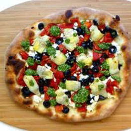 Feta Artichoke and Olive Pizza