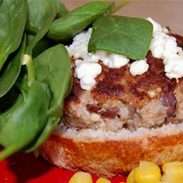 Feta Cheese Turkey Burgers
