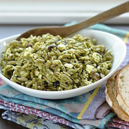 Orzo Salad with Spinach Pesto